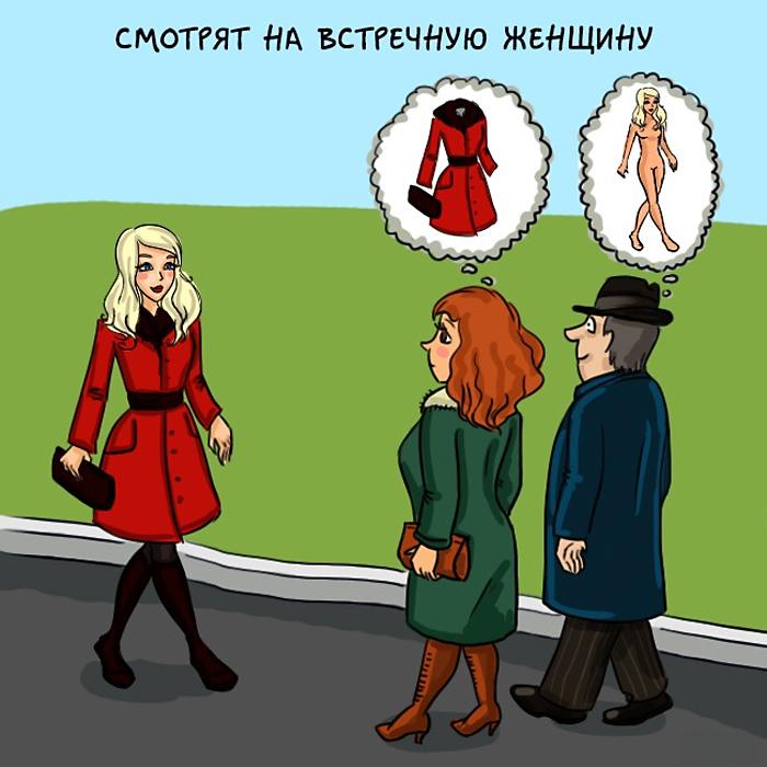Картинки различия мужчин и женщин смешные